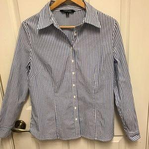 Chadwicks of Boston Womens Striped Shirt Sz 14